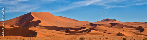 Door stickers Orange Glow Panoramic of Sossus Dunes, Namibia