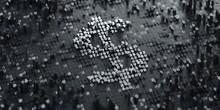 Digital Currency Symbol. Dollar