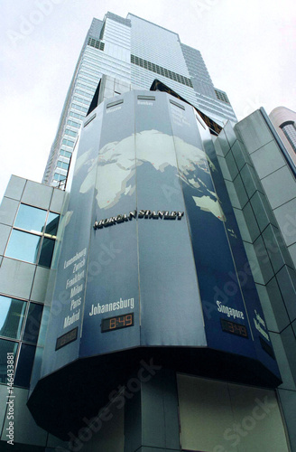 Photo shows the exterior of Morgan Stanley Group Inc  headquarters