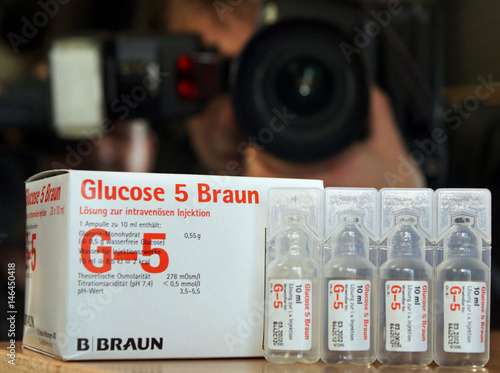 A photographer takes pictures of the B Braun Melsungen AG's glucose