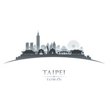 Taipei Taiwan City Skyline Sil...