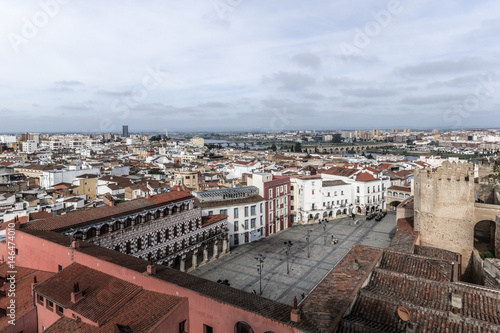 Plaza alta de la ciudad de Badajoz. Panorámica de la ciudad