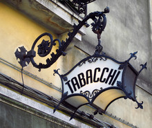 Old Ornate Deco Italian Tobacc...