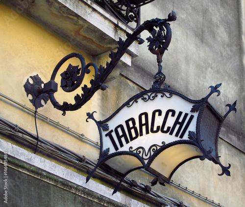 Cuadros en Lienzo old ornate deco italian tobacconist sign tabacchi = tobacco