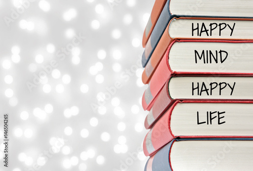 Inspiration motivation quot Happy Mind , Happy life Wallpaper Mural