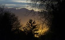 Beautiful Sunset Glowing Benea...