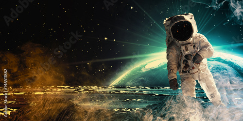 Keuken foto achterwand Nasa Astronaut in outer space.