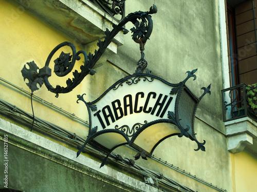 Fotomural old ornate deco italian tobacconist sign tabacchi = tobacco