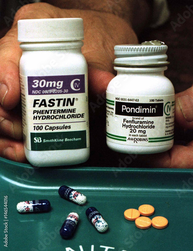 The Weight Loss Drugs Popularly Known As Fen Phen Are Displayed By A