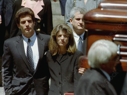 FILE PHOTO OF JOHN F  KENNEDY JR  AND SISTER AT JACQUELINE