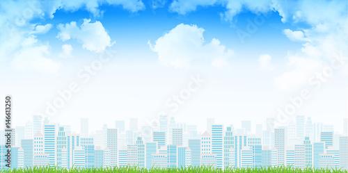 Valokuva  ビル 街並み 風景 背景