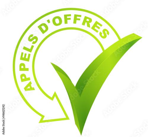 appels d'offres sur symbole validé vert Tapéta, Fotótapéta