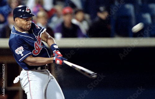 Cleveland Indians' left fielder Albert Belle gets his 40th