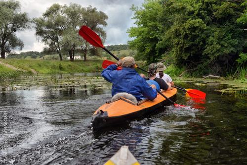 river, Sula, 2014 Ukraine, june14 ; river rafting kayaking editorial photo; rive Canvas-taulu