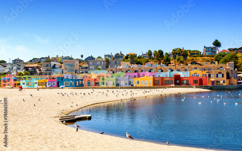 Photo  Colorful residential neighborhood in Capitola, California