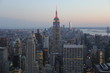 View at Empire State Building at dawn from Rockefeller