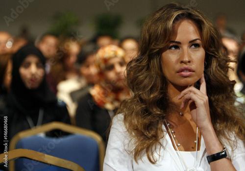 khadiga el gamal wife of gamal mubarak attends the second day of