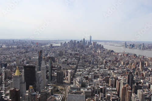 View at Manhattan Downtown from Empire State Building Poster