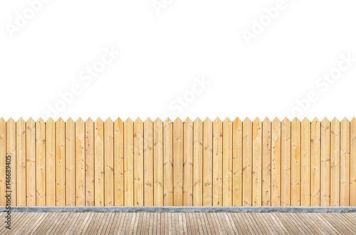 Fotografie, Obraz  terrasse avec palissade en bois plein