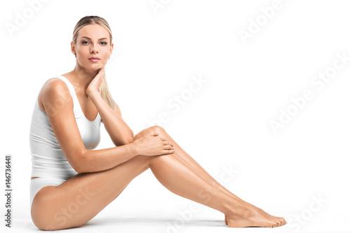 Fotografía  Woman in white underwear