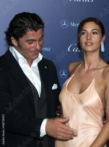 Italian Actress Monica Belucci And Former Italian Ski Star Alberto
