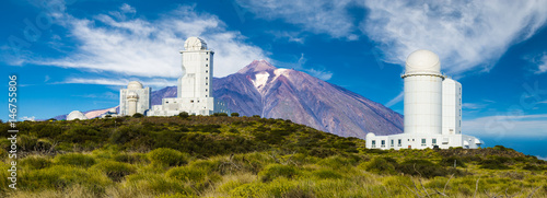 Photo Mount Teide Observatory on the slopes of Teide volcano in Tenerife