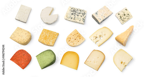 Fototapeta cheese  isolated on white obraz