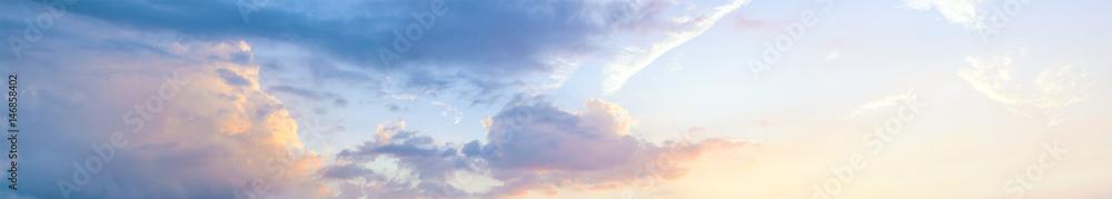 Fototapety, obrazy: Beautiful sunset sky, panoramic view