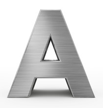 Letter A 3d Metal Isolated On White