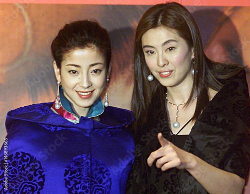JAPAN ACTRESS RIE MIYAZAWA AND TAIWAN ACTRESS JOEY WANG POSE IN