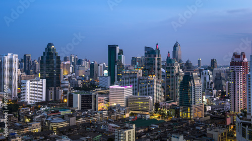 Cadres-photo bureau New York Bangkok cityscape
