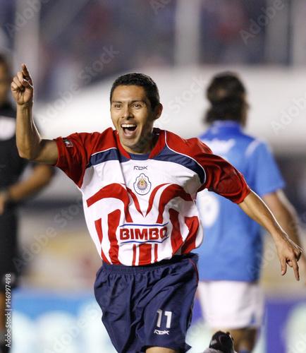 quality design c88ac 685cc Chivas striker Ramon Morales celebrates after scoring his ...