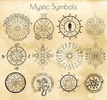Big Set With Mystic Symbols On...
