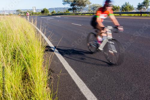 Foto op Plexiglas Fietsen Cycling Road Speed Blur