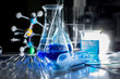 Equipment and experiments about science and chemistry. Being used in chemical experiments or manufacturing biological drugs .
