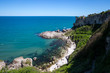 Coastal line of Black Sea in a popular day tour destination of Sile, Istanbul, Turkey