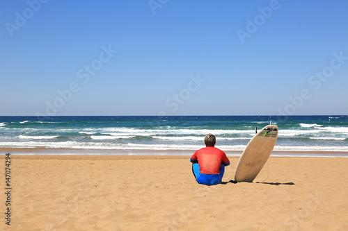 Plakat surf surfingowa stół plażowy Kraj Basków U84A1930-f17