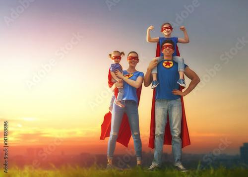Fotografía  Concept of super family.