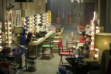 The Empty Backstage Room Among A Fashion Show