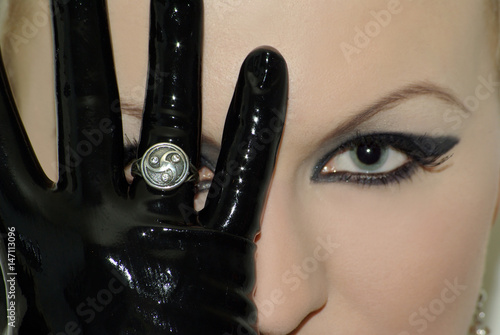 Photo  bdsm jewelry silver ring symbol