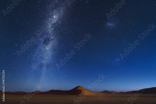 Poster de jardin Desert de sable Star at Namib desert sand dunes