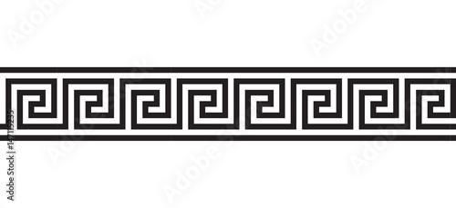 Greek seamless ornament Canvas Print