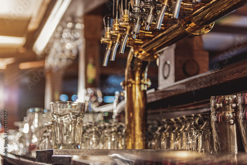 Equipment for making alcohol situating in alehouse Canvas Print