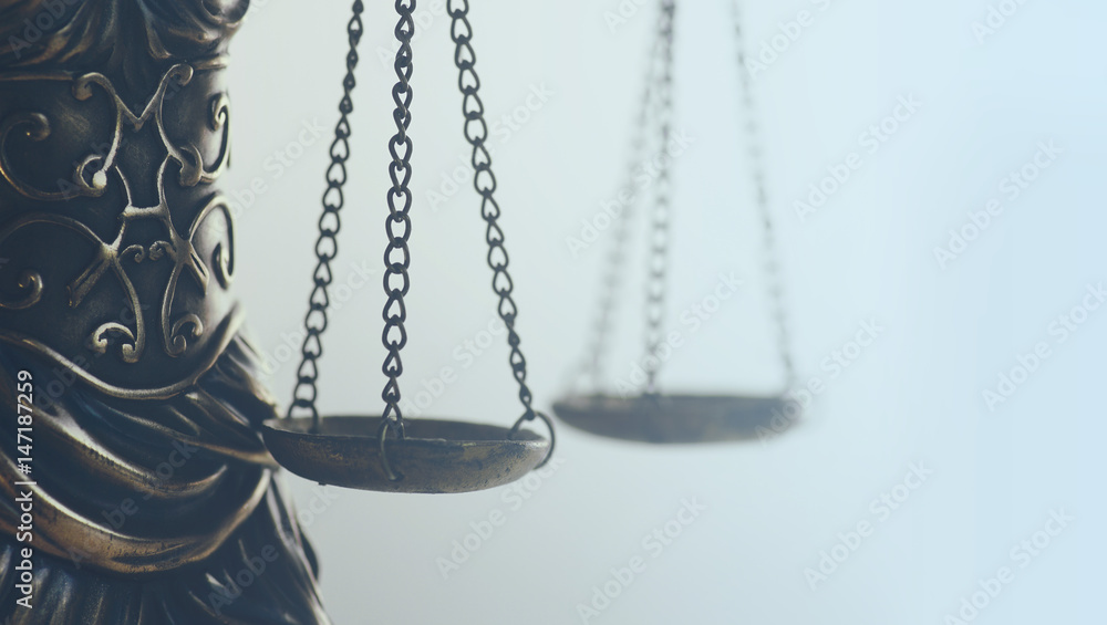 Fototapeta Legal law concept image, scales of justice