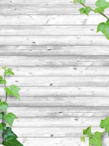 bluszcz-i-biala-struktura-drewna-bialo-szare-deski