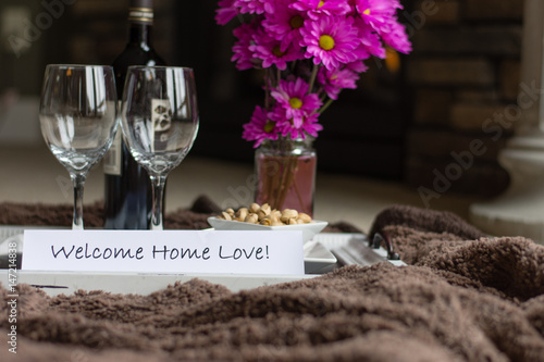 Welcoming a loved one home with a romantic indoor picnic.