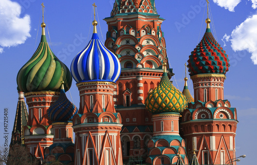 Deurstickers Oost Europa Russia, Moscow, St. Basil's Cathedral on red square
