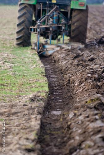 Aluminium Prints Africa Tractors ploughing