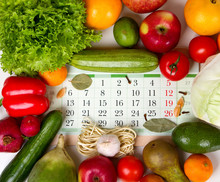 Vegetables And Fruits Around T...
