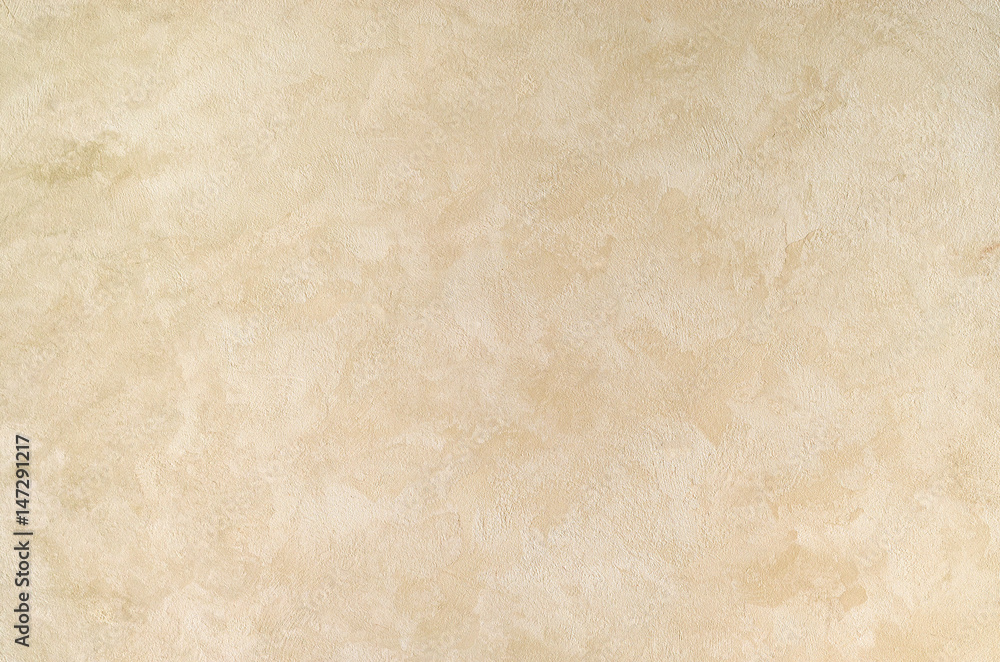 Fototapety, obrazy: Textured background. Decorative plaster walls, external decoration of facade. Texture of beige.